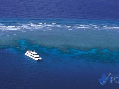 reef boat aerial